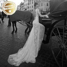 Super sexy backless lace wedding dress