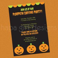 Printable DIY Halloween Party Invitation  by plumeriaprints, $16.00