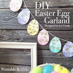 Printable Easter Egg Garland and SVG