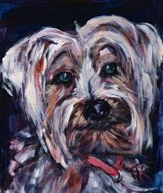 Daisy, (Acrylic, 5 x Daisy, Pets, Animals, Dogs, Sketch, Animals And Pets, Animales, Animaux, Daisies