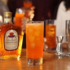 Try our Crown Royal Hard Orange Cream Soda cocktail, with Crown Royal Vanilla Whisky and orange soda. (mixed drinks with rum liquor) Party Drinks Alcohol, Alcohol Drink Recipes, Alcoholic Drinks, Mezcal Cocktails, Orange Creme, Orange Soda, Orange Juice, Cranberry Juice, Cream Soda