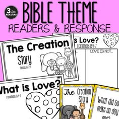This pack includes TWO Bible readers with response activities! The Creation Story: Genesis Help Teaching, Teaching Resources, Bible Heroes, Bible Reader, Fruit Of The Spirit, Free Bible, Sunday School Crafts, Character Education, Kids Church
