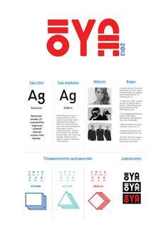 Øyafestivalen 2013 by Oda Sofie Granholt, via Behance School Projects, Logos, Behance, Logo
