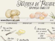 If you have spanish relatives or if you've ever visited Spain I am sure you tasted our Tortilla at least once. It's a omelette made with very basic ingredients (potatoes, eggs, salt and olive oil) that tastes delicious and it is served as tapa in almost all the bars and restaurants in the country. Although the Tortilla admits lots of variations, this is the simpler, basic recipe without any onion, peppers or chorizo in it.