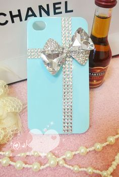 iPhone 4 case cover bowtie crystals Rhinestone Handmade jewel iPhone case Studded Bling decorate iPhone 4s case