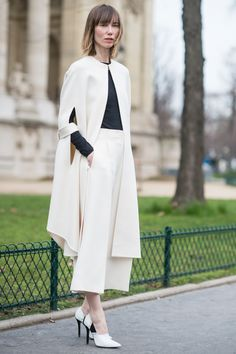 PARIS FASHION WEEK #PFW Street Style Haute Couture S/S 2015 - DAY TWO Anya Ziourova wearing celine