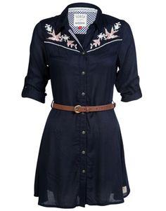 Soul Cal Deluxe Western Bird Dress
