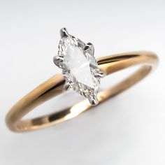 .48 Carat Marquise Cut Diamond Engagement Ring, eragem.
