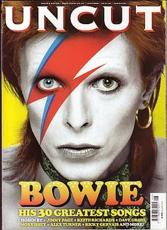 David Bowie on the cover of Uncut Magazine June 2008  Forsiden visser David Bowie og den er spesielt for dem som liker den type musikk.  David har veldig hvit ansikt med sin kjennetegn på (rød-blå lyn).