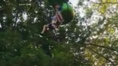 Transcript for  Teen's fall from Six Flags 'sky ride' captured on video  We are back with that amazing rescue caught on camera. The video shows a 14-year-old dangling from a ride. There you see her 25 feet in the air before a whole crowd rushed in to catch her. Adrienne... - #Captured, #Fall, #Flags, #Ride, #Sky, #Teens, #TopStories, #Video