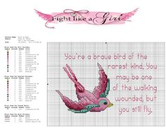 breast cancer cross stitch - Google Search