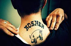 Kosher tattoo. | 27 Incredible FoodTattoos