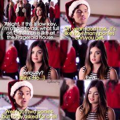 "#PLL 5x13 ""How the 'A' Stole Christmas"" - Aria and Ezra"