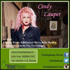 """Acquista ora il tuo biglietto """" CINDY LAUPER """" info line: 068841342 www.ticketplease.it mail: info@ticketplease.it La nostra sede: via Viterbo n.6, Roma. Spediamo in tutta Italia con Bartolini. Le date: 6 luglio Roma, Auditorium Parco della Musica 7 luglio Grugliasco (To), GruVillage  @cyndilauper #detour #tour #teatro #spettacolo #musica #CindyLauper"""