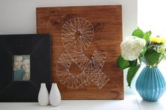 "Great art project for a child....tack some small nails onto a wood board in any design configuration. Then, hand it over and let them connect the ""dots"" with string!"