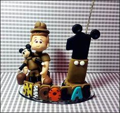 Vela Personalizada Mickey Safari