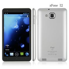 """xFone I2: 6 \"""" Multi-Touch Capacitive Screen, Dual SIM with GSM + WCDMA 3G, 1G CPU, 4G ROM+512M RAM, Dual Cameras, GPS, Android 4.0 Ice Cream Sandwich Smartphone"""