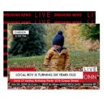 KIDS Birthday Breaking News Specialized TV Graphic Card