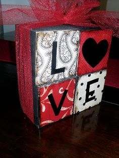 Six Sisters' Stuff: Valentine's LOVE Blocks