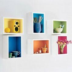 Rainbow Wall Shelves