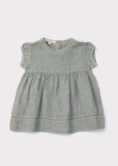 Cinnamon Baby Dress, Misty Blue