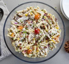 Bacon Ranch Pasta Salad, Chicken Bacon Ranch Pasta, Salad Chicken, Bacon Seasoning, Homemade Ranch Seasoning, Italian Pasta Dishes, Pasta Salad Italian, Salad Recipes, Party Recipes
