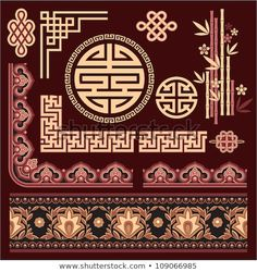 Find Set Oriental Pattern Elements stock images in HD and millions of other royalty-free stock photos, illustrations and vectors in the Shutterstock collection. Korean Design, Chinese Design, Chinese Style, Chinese Art, Motif Oriental, Oriental Design, Oriental Pattern, Korean Art, Asian Art