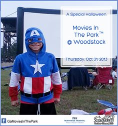 A SPECIAL TREAT FOR YOUR LITTLE MONSTERS  --- Free outdoor movie on halloween for the kids in Cherokee County...  The outdoor movie is Sponsored by Southern Outdoor Cinema, Northside Hospital Healthcare System and the City of Woodstock.