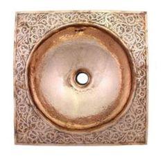 22 Best ideas for bathroom sink rustic plumbing Rustic Bathroom Sinks, Copper Bathroom, Rustic Bathroom Designs, Modern Bathroom Design, Master Bathroom, Bathroom Ideas, Moroccan Design, Moroccan Decor, Moroccan Bathroom