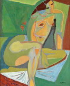 'Kvinnlig modell' by André Lhote (1885~1962), French Cubist; teacher and writer on art.