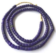 Cobalt Blue Antique African Bohemain Glass European trade beads, Unique African Arts