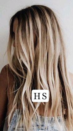 Blonde Hair Looks, Brown Blonde Hair, Blonde Hair With Brown Roots, Beachy Blonde Hair, Black Hair, Honey Blonde Hair Color, Going Blonde, Hair Color Highlights, Blonde Hair With Brown Highlights