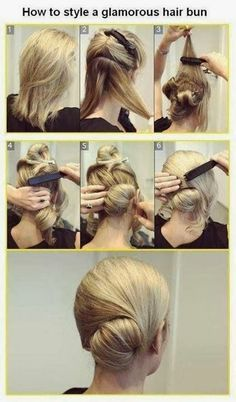 I wonder if this would work somehow with long hair. My mom would like it but she has a hair cape! But my hair is this length. Adorable side bun for me=happy me beauty,beauty . stuffs,Hair,HAIR looks. Pretty Hairstyles, Easy Hairstyles, Wedding Hairstyles, Dance Hairstyles, Layered Hairstyles, Holiday Hairstyles, Elegant Hairstyles, Everyday Hairstyles, Latest Hairstyles