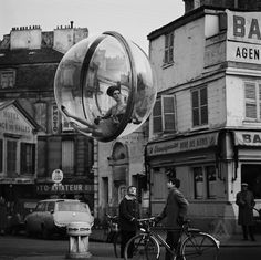 """before gaga and the egg. melvin sokolsky's """"bicycle street."""" paris 1963"""