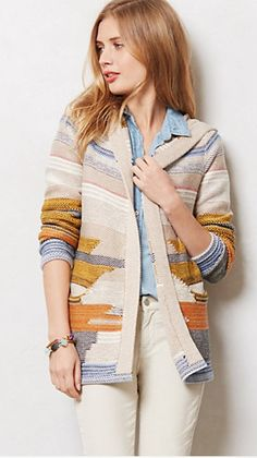 Fiemme Cardigan. Anthropologie $128. Add to your outfit when the sun goes down and it gets chilly at your BBQ