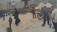 Paul Fischer 1901 Vinterdag på Gammeltorv Øregård Museum