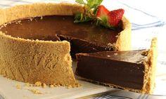 Receita de Torta gelada de chocolate (Cheesecake) - Show de Receitas