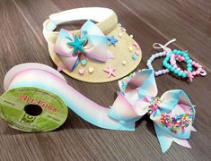 Mermaid Birthday, Unicorn Birthday Parties, Diy And Crafts, Crafts For Kids, Arts And Crafts, Crazy Hats, Craft Show Ideas, Visors, Craft Shop