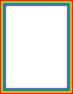 Free rainbow border templates including printable border paper and clip art versions.