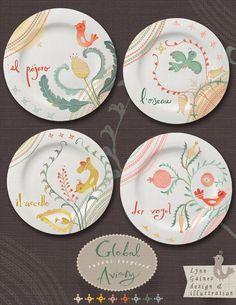 Design for plates- Lynn Gaines