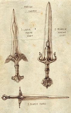 Marine Swords by ~Merlkir on deviantART