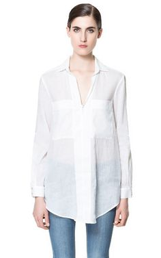 V - NECK BLOUSE - Shirts - Woman - New collection | ZARA United States. Own.