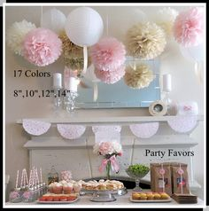 "DIY 10""(25 CM) Decorative Tissue Paper Pom Poms Flower Ball for Baby Shower Birthday Wedding Party Decorations"