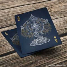 Ace of Spades by Valentina Badeanu | more here: http://playingcardcollector.net/2014/11/06/ace-of-spades-by-valentina-badeanu/