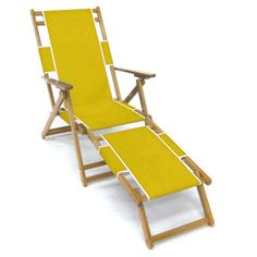 Outdoor Frankford Umbrella Commercial Oak Wood Beach Chairs Sunflower Yellow - FC101-YLA, SFS041-3