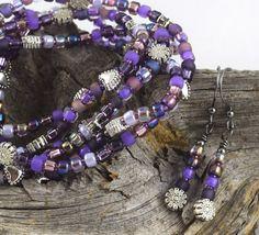 Napa Grapes yummy purple stretchy seed bead by OklahomaMama