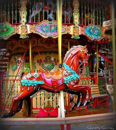 Carousel Horse on the merry-go-round Carrousel, Carosel Horse, Art Vintage, Carnival Rides, Wooden Horse, Painted Pony, Merry Go Round, Nocturne, Horse Art