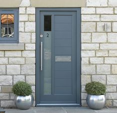 Beautiful, modern & traditional timber front doors - timber entrance doors, all made to measure using engineered timber & top performance double glazing. Timber Front Door, Timber Windows, Modern Front Door, Double Front Doors, Front Door Decor, Craftsman Home Exterior, Double Doors Exterior, Traditional Front Doors, Contemporary Front Doors