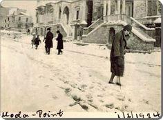 Moda burnu'nda kış, 1924, İstanbul Winter in Moda, 1924, Istanbul.