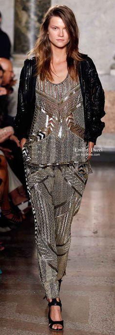 http://www.beadshop.com.br/?utm_source=pinterest&utm_medium=pint&partner=pin13 Emilio Pucci Spring 2014 moda, canutilho, prata